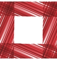 Abstract frame red stripes design vector