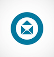 Mail bold blue border circle icon vector