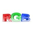 Letters rgb on white background vector