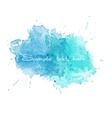 Blue watercolor splatters vector