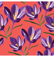 Seamless pattern for design with spring flowers vector