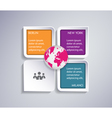 Infographic abstract template vector