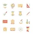 Flat internet education icons vector