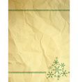 Crumpled paper with snowflakes vector