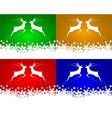 Set of christmas backgrounds with reindeers vector