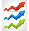 3d growth arrow vector