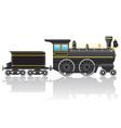 Old retro locomotive vector