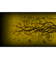 Gold swirly floral background vector