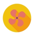 Fan single icon vector