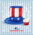 Greeting card for independence day on july 4 vector