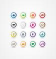 Multicolor web icons 2 vector