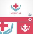 Medical pharmacy cross logo design template vector