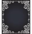 Template frame design for card floral pattern vector