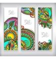 Set of decorative flower template banner card vector