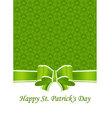 Greeting card st patricks day vector