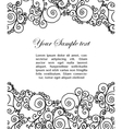 Abtract black and white border vector
