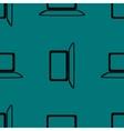 Notebook web icon flat design seamless gray vector