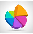 Circular diagram colorful vector