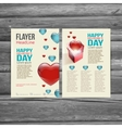 Holiday brochure flyer design template vector