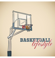Basketball basket vector