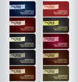 Business card template set 1 vector