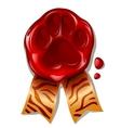 New year of tiger sealing wax vector