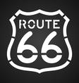 Asphalt route 66 paint vector