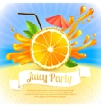 Orange juice party vector