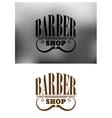 Retro barber shop emblem with mustache vector