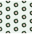 Hand drawn christmas seamless pattern with wreath vector