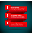 Infographic with numbered infographic ribbons vector