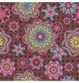 Arabesque floral pattern background vector