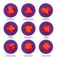 Gems icons set vector