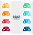 Paper triangle stickers and labels with realistic vector