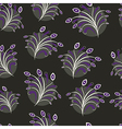 Seamless floral pattern on black vector