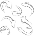 Abstract 3d sketchy arrows sketchy  set vector