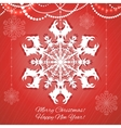 Background with snowflake with goat symbol of 2015 vector