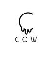 Cow monogram vector