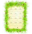 American spring 2011 calendar vector