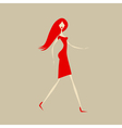 Fashion girl for your design vector