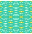 Modern geometric pattern in bright tropical colors vector