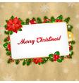Christmas vintage blank gift tag vector
