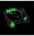 Turntable outline design vector