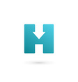 Letter h cube logo icon design template elements vector