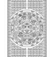 Stylized aztec calendar vector