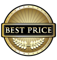 Best price gold label vector