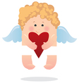 Angel and heart vector