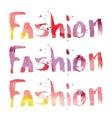 Watercolor letering fashion vector