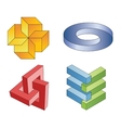 Unreal geometrical symbols vector
