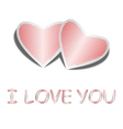 Design heart background with words i love you vector